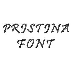 Pristina Font embroidery font
