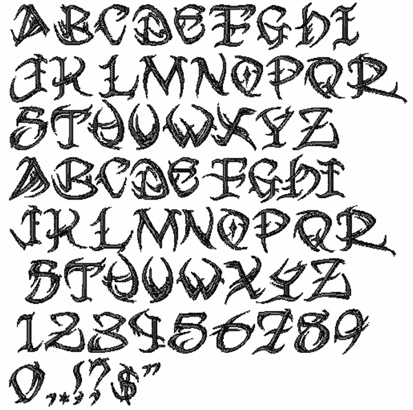 Tribal Font Embroidery Font | AnnTheGran
