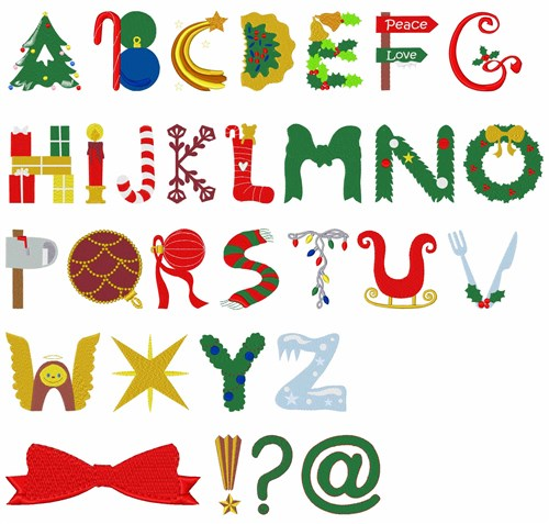 JB Christmas Font Embroidery Font
