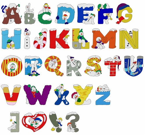 Free Alphabet Embroidery Designs