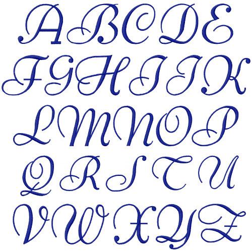 Elegant embroidery fonts annthegran