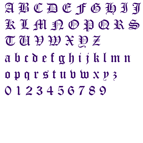 Old english alphabet embroidery font annthegran club membership thecheapjerseys Choice Image