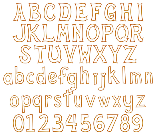 Cute Alphabet Embroidery Font Zoom In