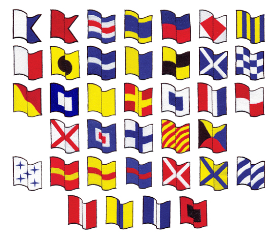 Styles Embroidery Font: Nautical Flags from Grand Slam Designs