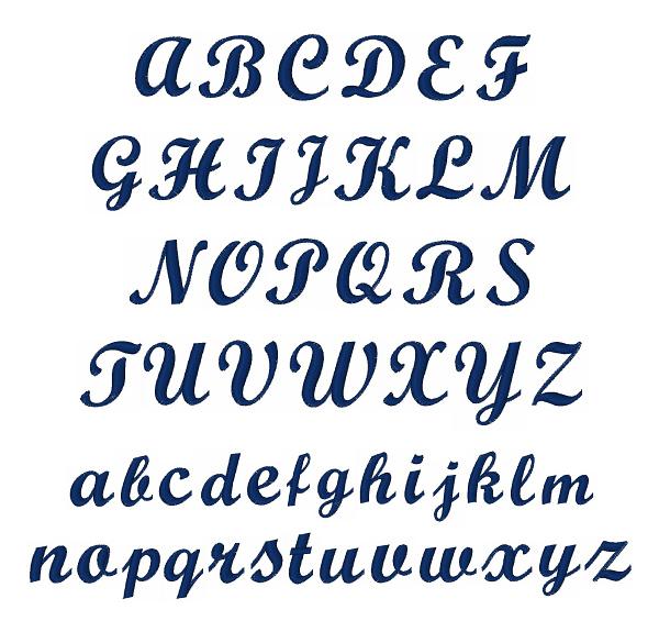 bold script font embroidery font annthegran