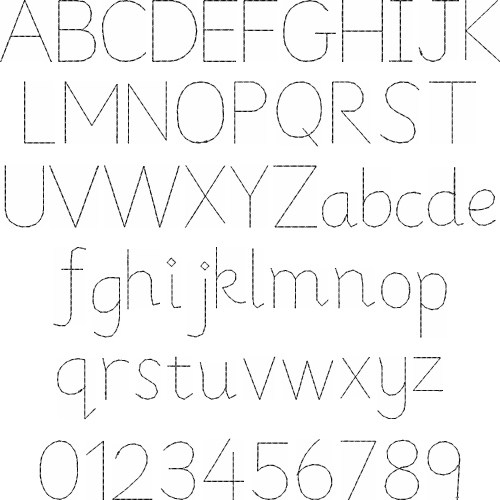 Home Format Fonts(Great Notions) Embroidery Font: Faux Hand Font ...