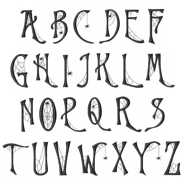 cob web font embroidery font