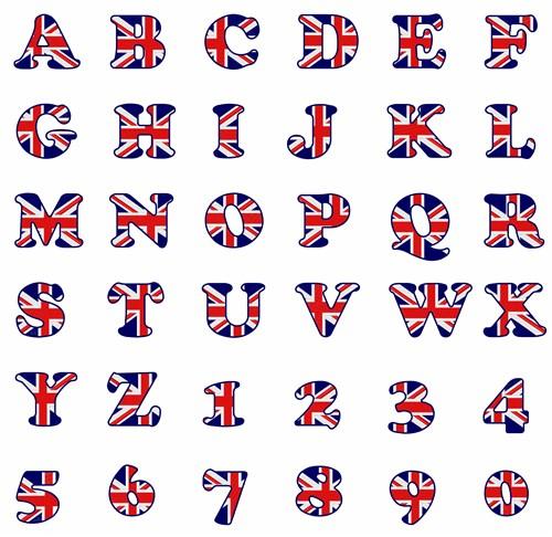 f681beb0833 British Flag Font Embroidery Font