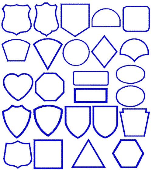 Shapes And Borders Applique Embroidery Font