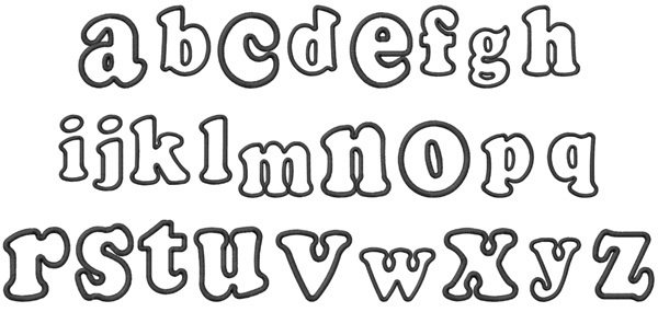 Bubble Embroidery Font AnnTheGran