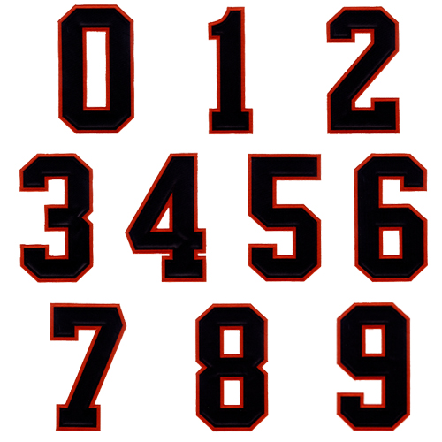 Athletic Applique Numbers 2 Color Embroidery Font Annthegran