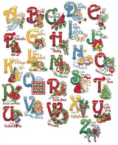 Christmas Alphabet Embroidery Font Annthegran