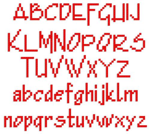 Simple gothic alphabet embroidery font annthegran