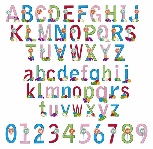 Candy Font Embroidery Font