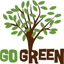 Go Green Tree Print Art