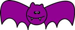 Purple Bat Print Art