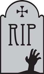RIP Tombstone Print Art