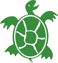Green Turtle Print Art