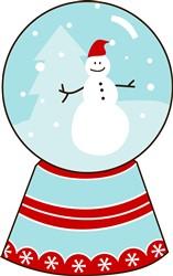 Snowman Snow Globe Print Art