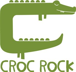 Crocodile Croc Rock Print Art