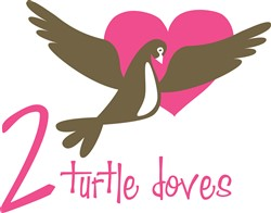 Turtle Doves Print Art