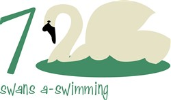 Swans A-Swimming Print Art