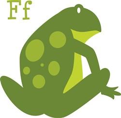 F Frog Print Art