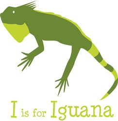 I Is For Iguana Print Art