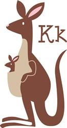 K For Kangaroo   Print Art