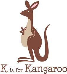 K Is For Kangaroo Print Art