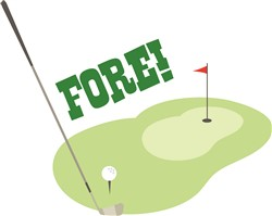 Golf Fore Print Art