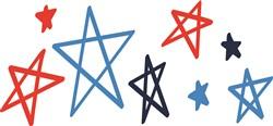 USA Stars Print Art