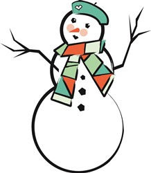 Winter Snowman  Print Art
