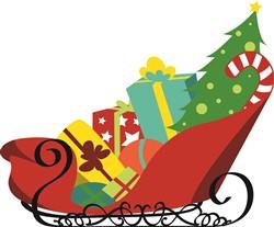 Santas Sleigh Print Art