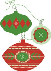Christmas Ornaments Print Art