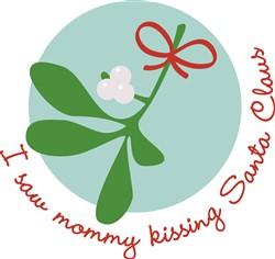Mommy Kissing Santa Print Art