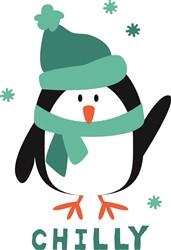 Chilly Penguin Print Art