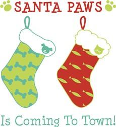 Santa Paws Print Art