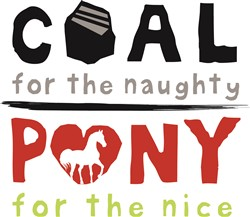 Coal or Pony Print Art