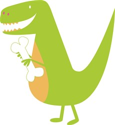 T-Rex Dinosaur Print Art
