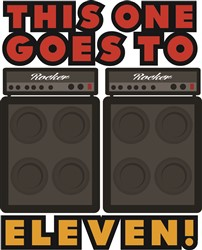 Goes To Eleven Print Art