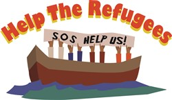 Help The Refugees Print Art