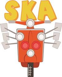 SKA Moped Print Art