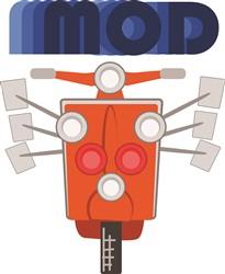 Mod Moped Print Art