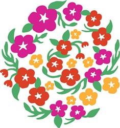 Floral Circle Print Art