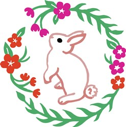 Bunny In Flowers Print Art