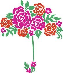 Floral Umbrella Print Art