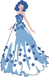 Evening Gown Lady Print Art
