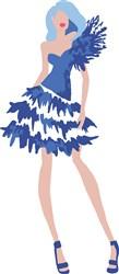 Party Dress Model Print Art