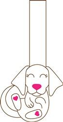 Dog Puppet Print Art